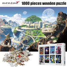 MOMEMO Fantasy World Puzzle 1000 Pieces Wooden Jigsaw for Adults Landscape Figure Puzzles Children Toys Box Packing