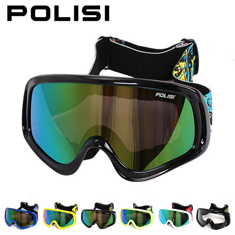 ФОТО POLISI Winter Ski Snowboard Snow Goggles Anti-Fog Motocross Off-Road Glasses Men Women Motorcycle Downhill Dirt Bike Eyewear