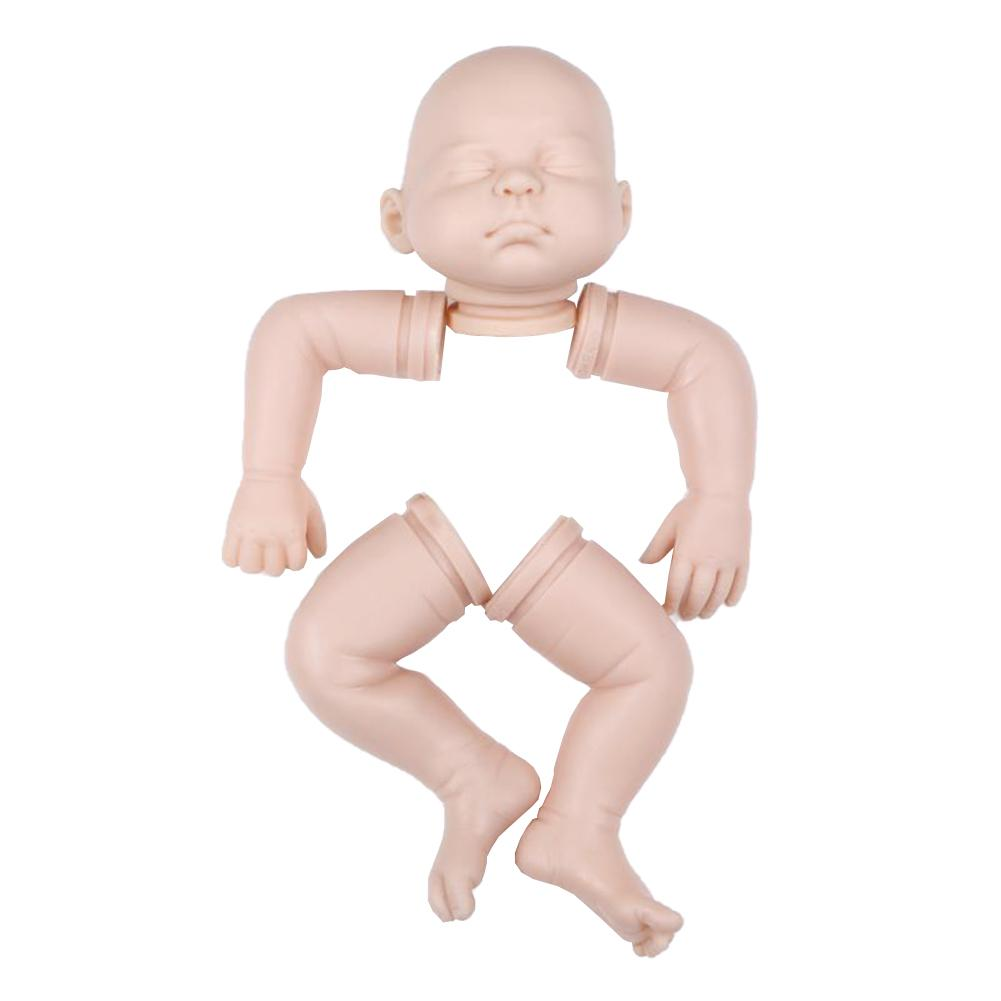 22inch Unisex Vinyl Silicone Reborn Baby Alive Doll Kits Doll Accessories With Head 3/4 Limbs Blank Unpaint Parts DIY