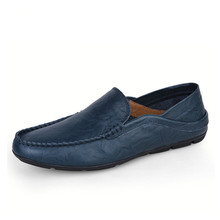 Big Size 35-47 Slip on Casual Men Loafers Spring and Autumn Mens Moccasins Shoes Genuine Leather Men's Flats Shoes New
