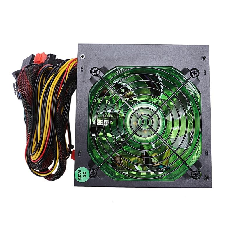 170-260V Max 500W alimentation Psu 12Cm Pfc ventilateur silencieux 24Pin 12V Pc ordinateur Sata Gaming Pc alimentation pour Intel Amd calcul