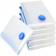Домашний вакуумный мешок для хранения одежды сумка с клапаном прозрачная граница складной сжатый Органайзер Экономия пространства уплотнение пакет