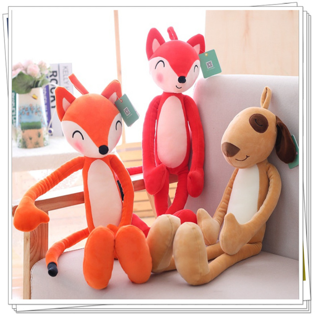 Fox plush pillow toys for girls baby doll stuffed animals kawaii valentine  day soft for bouquets 3a470ddc2373