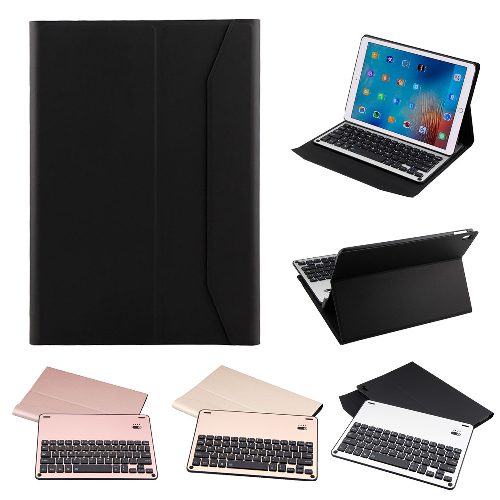 Thin Folio Cover With Removable Aluminum Bluetooth Keyboard For 10.5 iPad Pro Fashion Convenience 17Sept26 ultra thin folio cover with removable aluminum bluetooth keyboard for 10 5 ipad pro
