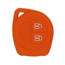 2 кнопки силиконовый дистанционный смарт-брелок чехол для Suzuki