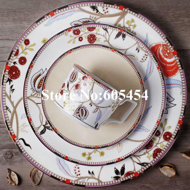 British Europe Bohemia dinnerware set fine bone china coffee cup set steak dish salad plate set & British Europe Bohemia dinnerware set fine bone china coffee cup set ...