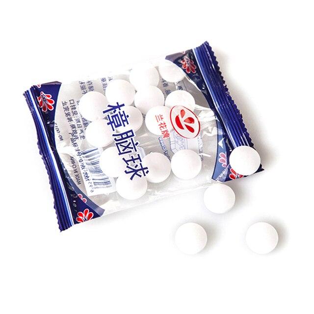 20 pcs Naturale Naftalina Anti-muffa Falena Repellente Sfera di Canfora Controll