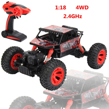 HB P1803 2.4GHz 1:18 Scale RC Rock Crawler 4WD Off Road Race Truck Car Toy