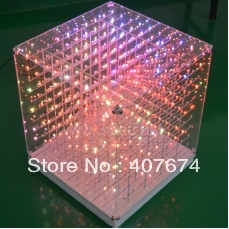 Factory Price HOT 5mm 3in1 aying 3D Cube Light for Advertising,DJ party Show,3D LED Display,SD CARD CUBE LGIHT