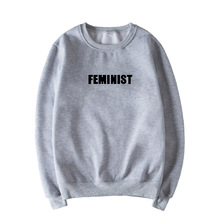 Skuggnas Feminist Jumper Grey Pink Black White Fashion Women Casual Tops Long Sleeve Fashion Tumblr Feminism Tops Gift For Women