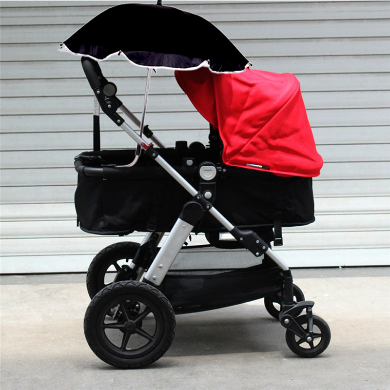 Adjustable Baby Stroller Car Sunshade Umbrella with Clip Kids Pram Sun Shade Parasol for Pushchair Canopy Stroller Accessories free shipping dia 84cm chinese paper parasol rain sunshade womens umbrella with anthemy picture handmade oiled paper umbrella