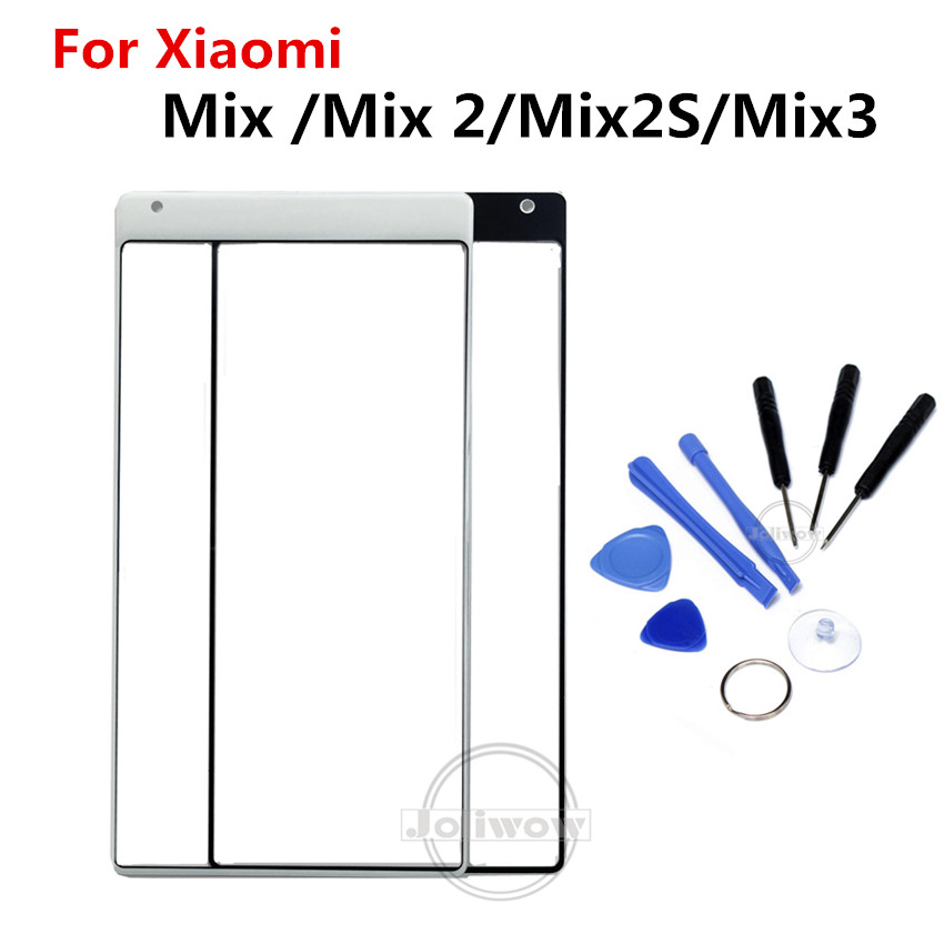 For XiaoMi Mi Mix Mix 2 3 Mix 2S Touch Screen Front Outer Screen Touch Panel Glass Parts Repair Replacement For Xiaomi Mix 2 2s