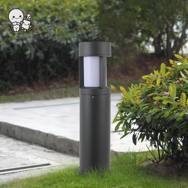 Outdoor Aluminum Acrylic Lawn Lamp Fixture Modern Minimalist Landscap Lighting Ground Standing Light E27 E26 LED Bulb 220V 110V