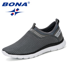 BONA 2019 Men Casual Shoes Breathable Fa
