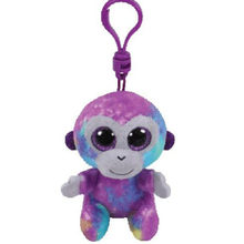 "Ty Beanie Boos Zuri The Rainbow Monkey Small Pendant Plush Toy Clip Stuffed Collection Soft Doll 4"" 10cm(China)"