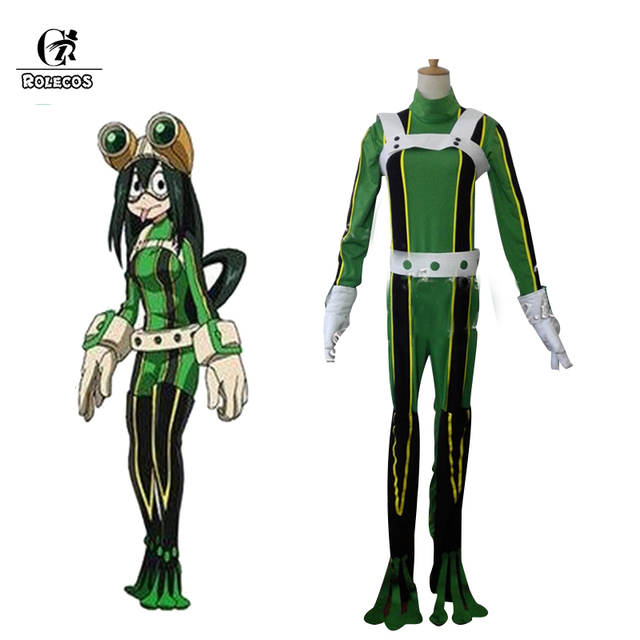 rolecos boku no hero academia anime cosplay tsuyu asui costumes my hero academia halloween brand cosplay