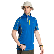 2016 Tectop Men quick-drying short-sleeve T-shirt zipper collar short-sleeve quick-drying breathable Uv protection t-shirt