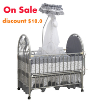 European environmental protection iron art crib multi functional children's bed without paint and tasteless cradle on sale