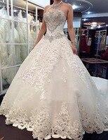 e649994c7cf8f Vestido De Noiva Luxury Princess Wedding Dress Crystal Beading Bridal Gowns  With Long Train Custom Made
