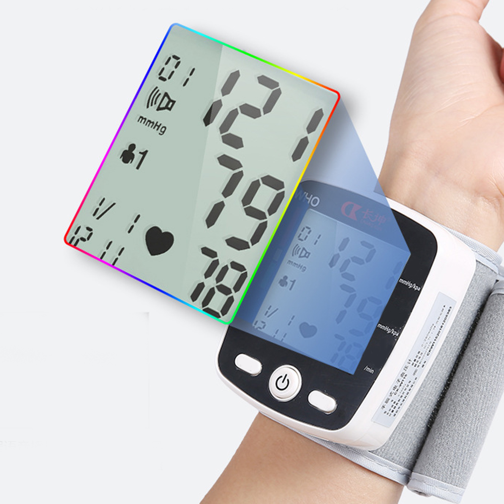 Portable Intelligent Digital Automatic Wrist Blood Pressure Monitor LCD Display Household Health Care Blood Monitors