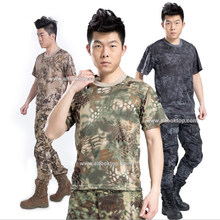 5pcs/lot Men Military uniform clothing top multicam camo combat shirt acu camouflage fatigue army tactical short T shirt dry Tee(China)
