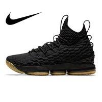 Оригинальный Nike Оригинальные кроссовки Леброн 15 LBJ15 для мужчин's баскетбольные кеды спортивные спортивная обувь спортивная дизайнер обувь
