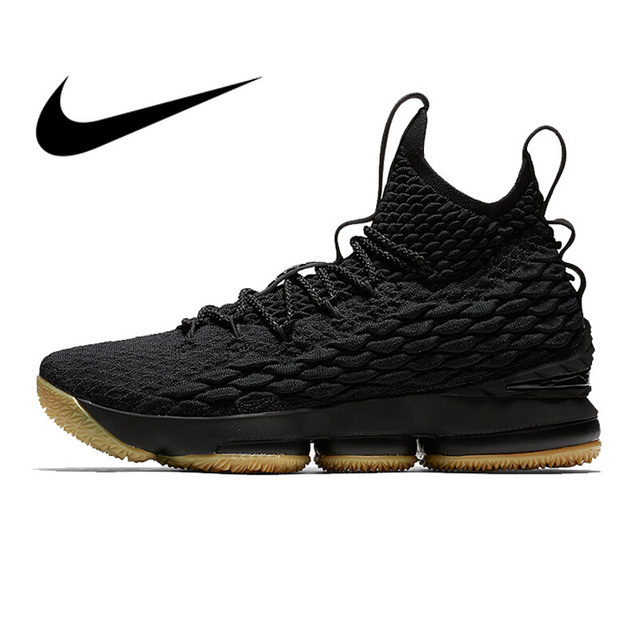 dc2b1e05cb01 Original Authentic Nike Lebron 15 LBJ15 Men s Basketball Shoes Sport  Sneakers Athletic Designer Footwear 2018 New Top Quality