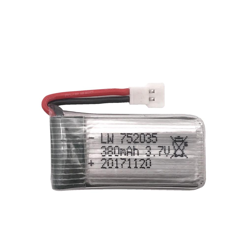 Limskey 3.7V 380mAh 25C Lipo Battery For For Hubsan X4 H107 H107L H107D JD385 JD388 RC Helicopter Quadcopter 3.7 V 380 Battery