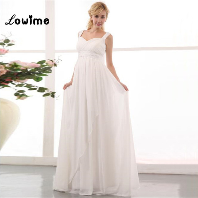 3b5fdc80d9 Cheap Plus Size Newest Boho Chic Beach Maternity Wedding Bridal Dress  Chiffon For Pregnant Bride Dresses Gowns Turkey Noivas