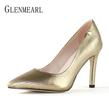 Купить с кэшбэком Luxury Women Pumps High Heels Sheepskin Wedding Shoes Female Genuine Leather Ladies Shoe Brand Party Thin Heels Shoes Woman DE