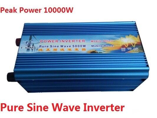 цена на 10000W Peak 5000W Pure Sine Wave Solar Inverter 24V 230V Solar Panel Inverter Voltage Regulator 12V/48V DC to 110V/120V/220V AC