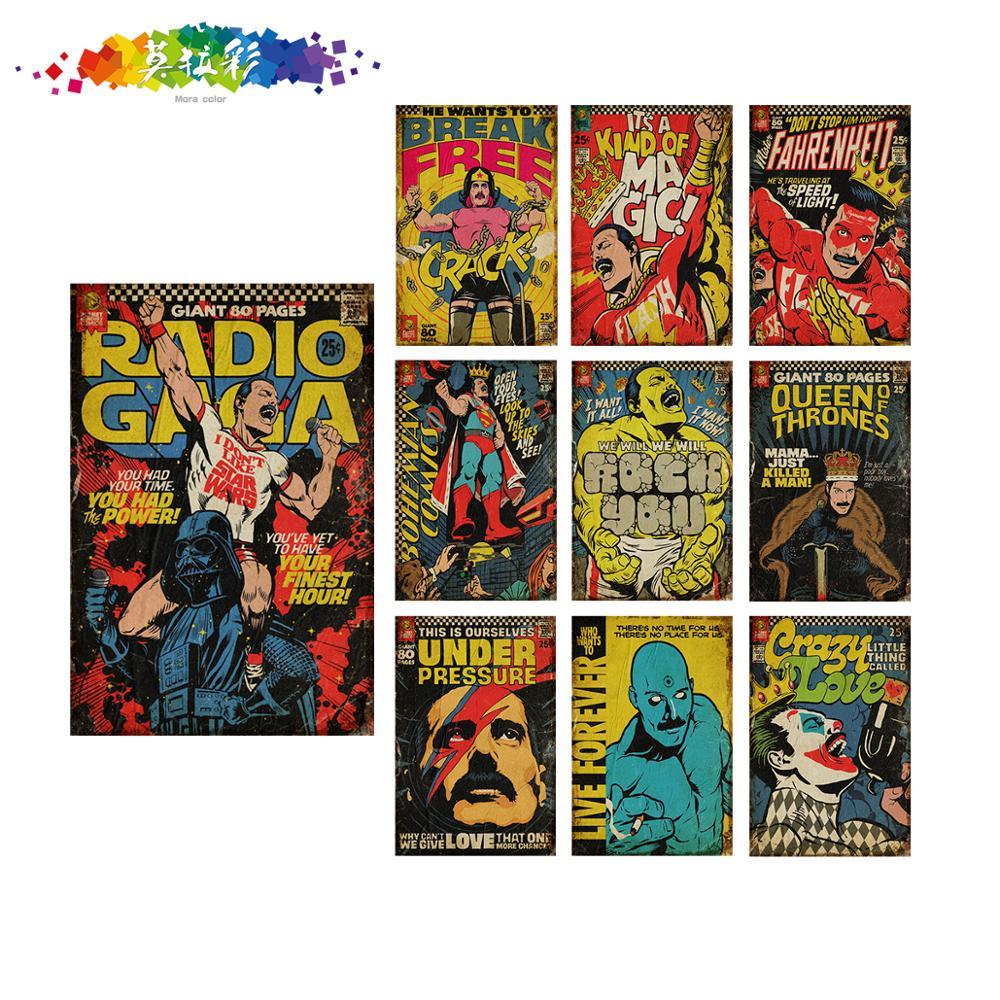 Black Bolt comic metal tin sign stores retro collectible wall decor