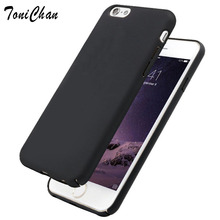 TaniChan Simple Pure Navy Black Gray Colors Coque Case for iPhone 6 S Plus 4.7″ 5.5″Hard Plastic  Matte Smooth Back Cover Case