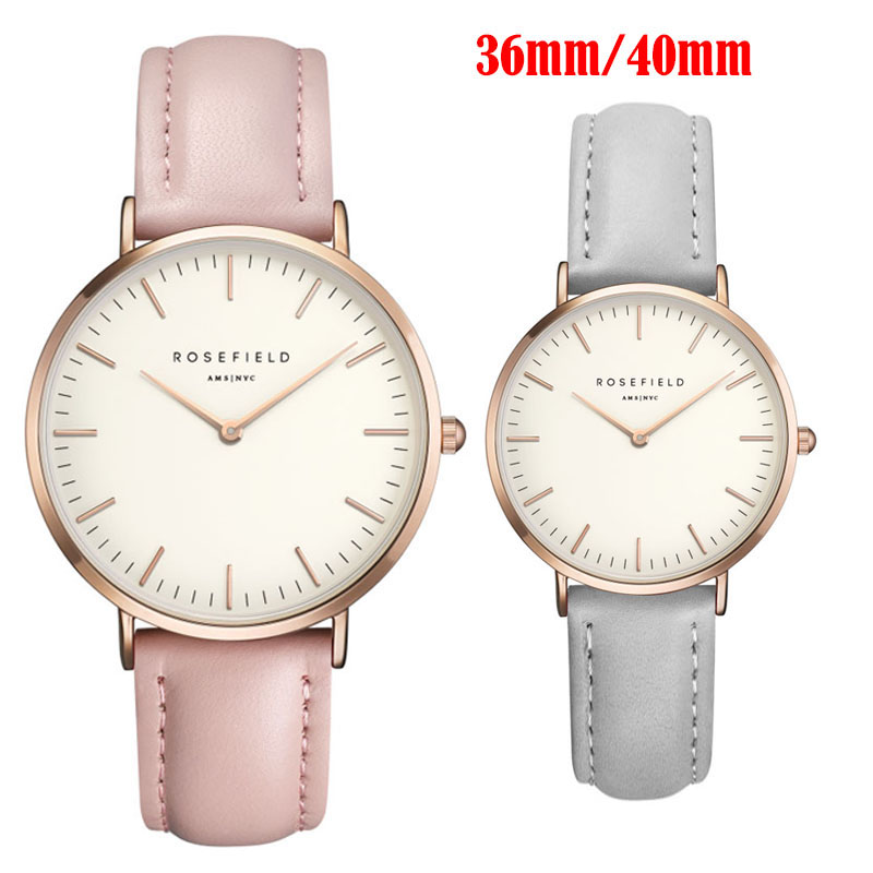 ROSEFIELD WristWatch Women Watches 2018 Famous Brand Female Clock Quartz Watch Ladies Quartz-watch Montre Femme Relogio Feminino rigardu fashion female wrist watch lovers gift leather band alloy case wristwatch women lady quartz watch relogio feminino 25