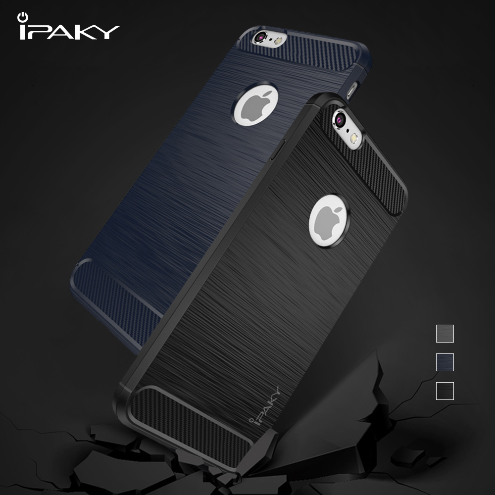Case Ipaky Carbon Fiber Redmi Note 5 Pro Softcase Shockproof Tpu Backcase Original Capa For Iphone 6s 6 Phone Brushed Gel With Decorated Back Cover S Coque