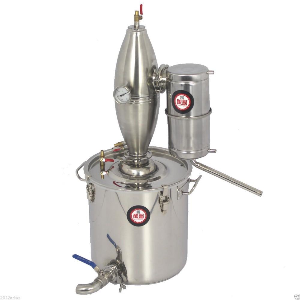 25L D'alcool Inoxydable Distillateur Brew À La Maison Kit Moonshine Vinification Chaudière Maison Brassage De Vin Appareil Distillateur D'alcool