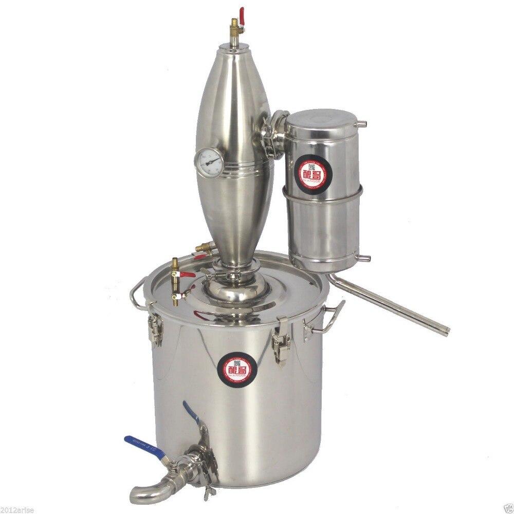 25Lเครื่องดื่มแอลกอฮอล์สแตนเลสDistillerหน้าแรกBrewชุดM Oonshineไวน์หม้อไอน้ำอุปกรณ์การผลิตเบียร์ไวน์บ้านแอลกอฮอล์Distiller-ใน ชุดอุปกรณ์บาร์ จาก บ้านและสวน บน   1