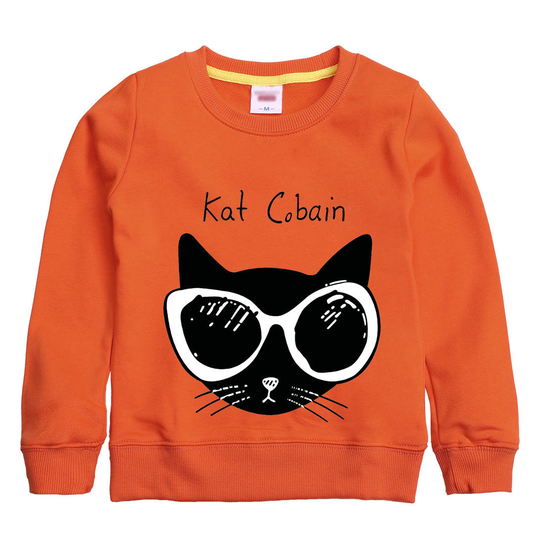 Kat Cobain pattern printed 2018 new fashion sweatshirt winter autumn childrens clothing design for girl & boy