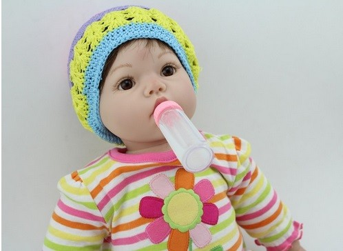 Girl Doll Accessories Pink Feeding Bottle for Reborn Baby Dolls Kid/'s Toys