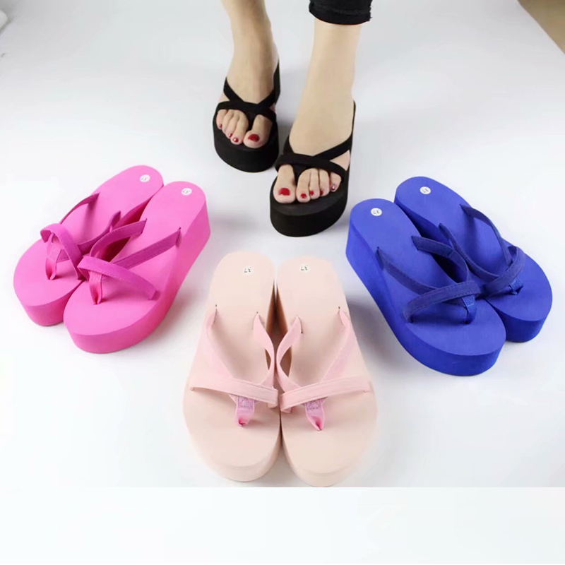 HENGSONG Sandal Women Thick Fashion Summer Non-Slip Casual Plat Solid 888259
