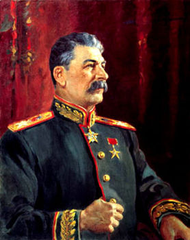 HIGH QUALITY OIL PAINTING ON CANVAS SOVIET LEADER JOSEPH STALIN""