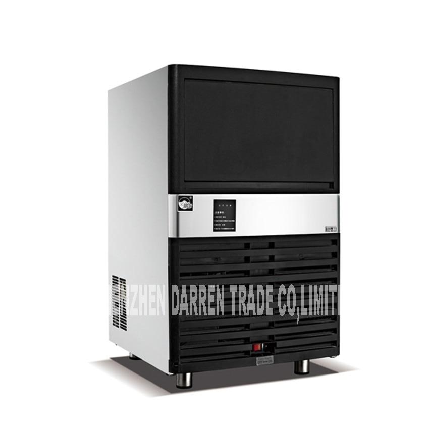 HS-40 Commercial Ice Maker  20KG Ice Storage Capacity, 40KG / 24H Ice Tea Shop Bar Ice Machine 320W 220V