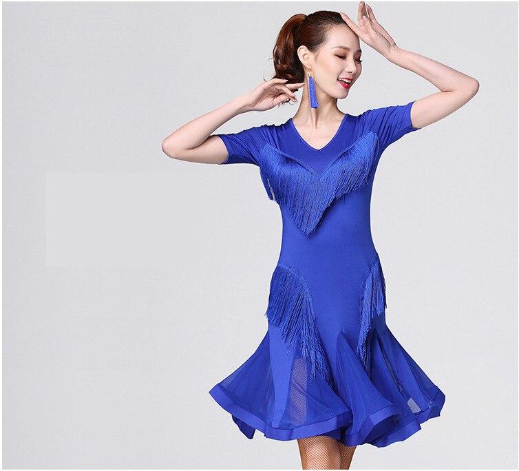 Latin Dance Skirt For Women   2018 New Arrival Professional Sumba Rumba Dancing Wear Adult CheapLatin Tasse 5 Colorsl Dress