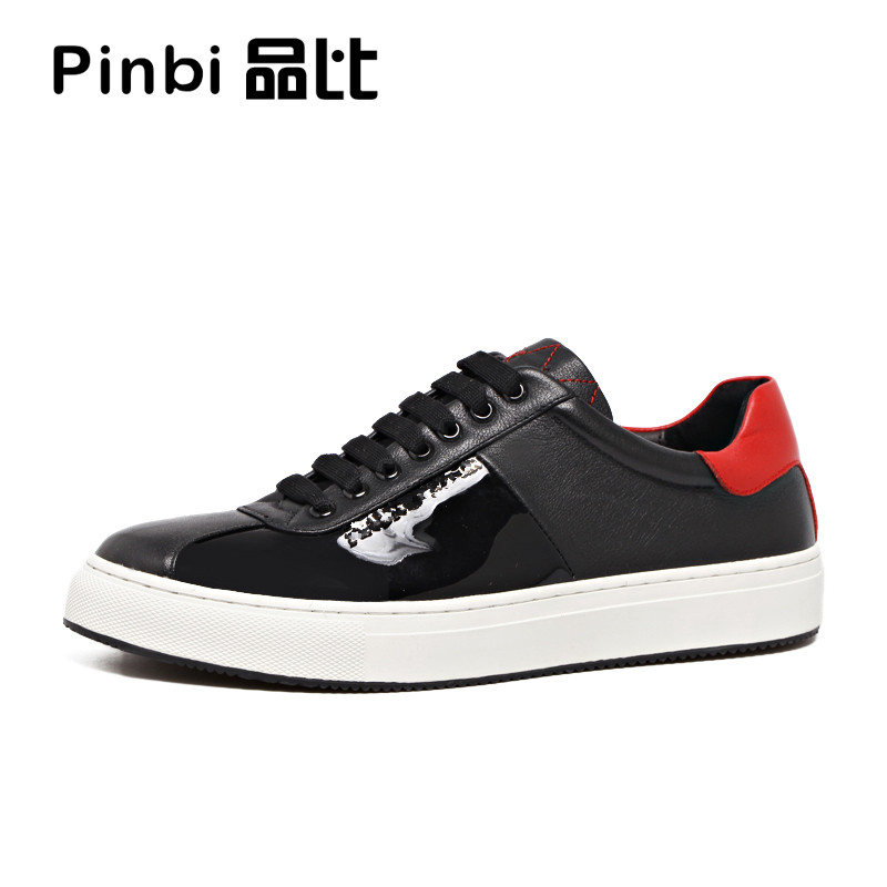 Men fall sports casual shoes leather strap with flat color trend of men's shoes the fall of new men s casual shoes leather trend of korean youth all match low men shoes