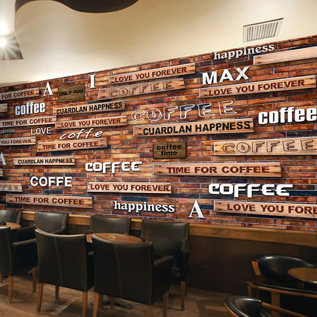 Custom Photo Silk 3d Wallpaper For Walls 3 D Coffee Shop