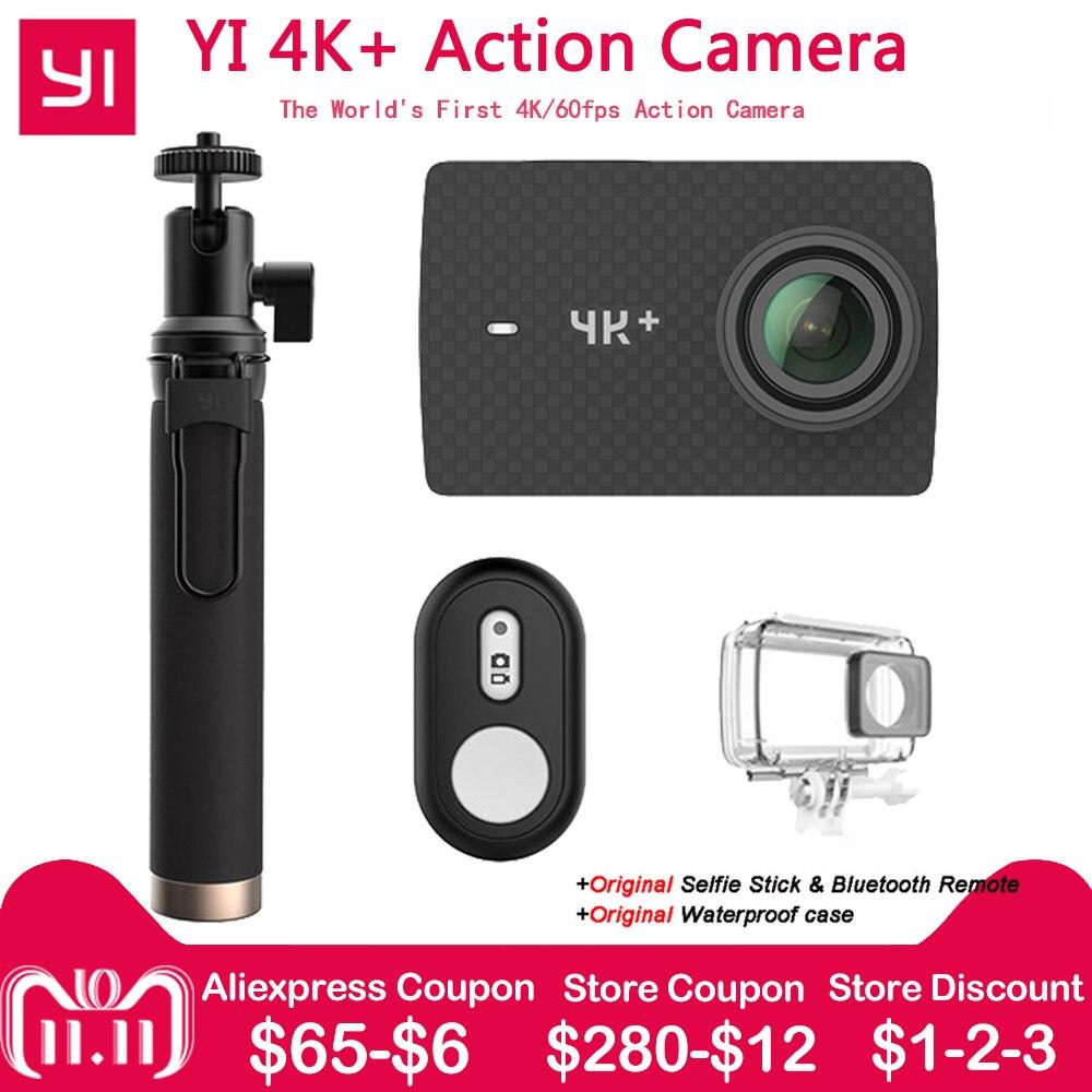 Xiaomi Yi 4k + действие Камера Ambarella H2 12MP 155 градусов 2,19 сырые Yi 4k + Первые 4 К/60fps Спорт Камера [Международный версия]