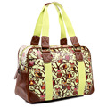 Miss Lulu Women Mens Retro Owl Print Oilcloth Large Handbag Overnight Weekend Travel Maternity Tote Bag 1106