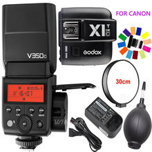 Godox V350C TTL HSS 1/8000s GN36 0.1~1.7s recycle Camera Speedlite Flash Built-in Lithium Battery with X1T-C Trigger for Canon
