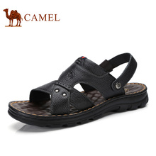 Camel 2017 Summer New Men's Casual Sandals Leather Toe Beach Daily Sandals Male A722287962