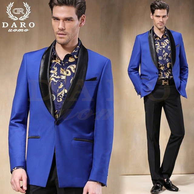 Tailor Made Blue Blazer Black Lapel Groom Tuxedos 2 Pieces Mens Wedding Prom Dinner Party Suits Terno Masculino Jacket Pants Tailor Made Party Suitmen Wedding Aliexpress